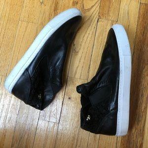 Tory Burch Rosette High Top Sneaker Size 9.5